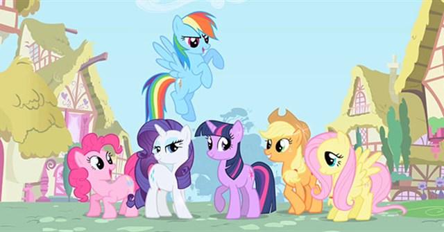 Tranh tô màu pony bé nhỏ tình bạn diệu kỳ 1