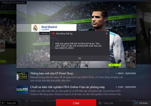 cách khắc phục lỗi không vào được fifa online 3 4