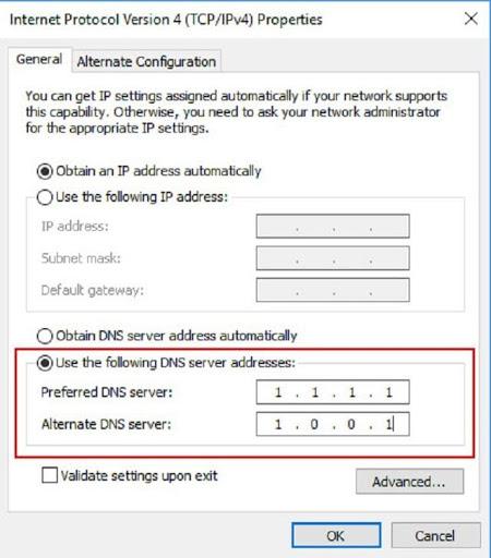 Đổi địa chỉ DNS để truy cập vào nhà cái khi bị chặn